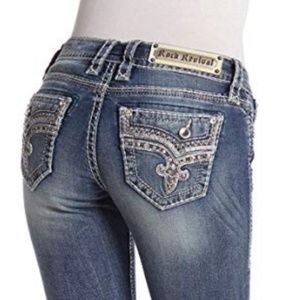 Rock Revival Betty Easy Bootcut Embellished Jeans